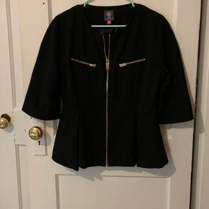 Vince Camuto Black blazer with gold zipper